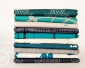 Imprint Laguna Night Half Yard Bundle, 10 Pieces, Katarina Roccella, Art Gallery Fabrics, 100% Cotton Fabric, IMP