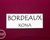 One Yard Bordeaux Kona Cotton Solid Fabric from Robert Kaufman, K001-1039