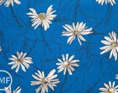 Suzuko Koseki Small Marguerite Daisy in Royal Blue, Yuwa Fabric, SZ826012B, 100% Cotton Japanese Fabric