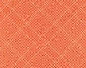 Carkai Grid Diamond in Creamsicle Metallic, Carolyn Friedlander, Robert Kaufman Fabrics, 100% Cotton Fabric, AFRM-15793-152 CREAMSICLE