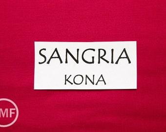 One Yard Sangria Kona Cotton Solid Fabric from Robert Kaufman, K001-481