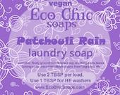 Patchouli Rain laundry soap - Natural laundry soap w/Patchouli Rain Fragrance - choose from 1 lb or 3 lb bag - Vegan laundry soap
