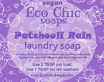 Patchouli Rain laundry soap - Natural laundry soap w/Patchouli Rain Fragrance - Vegan laundry soap