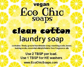 Clean Cotton laundry soap - Natural laundry soap w/Clean Cotton Fragrance - Vegan laundry soap