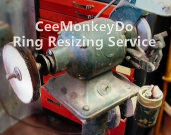 SILVER Ring Resizing Service - For CeeMonkeyDo Rings Only