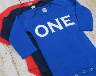 ADD A ONESIE Boys First Birthday Outfit Cake Smash Or Birthday Party Shirt with ONE