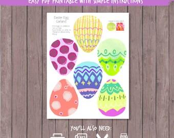 Easter Egg Garland Printable PDF