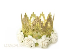 Princess Tiana inspired || MINI lace crown headband