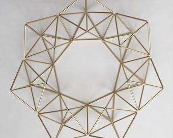 Brass Himmeli Geometric Wreath