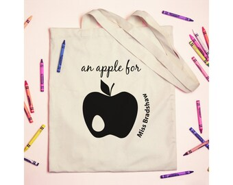 Personalised Teachers An Apple For... Tote Shoulder Bag