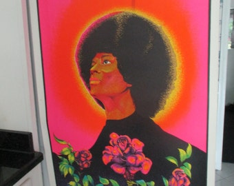 "Vintage Original ""Black Rose"" Poster"