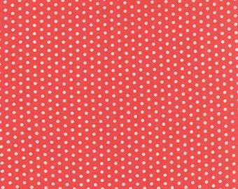 Farmhouse Polka Dotties Red by Fig Tree for Moda