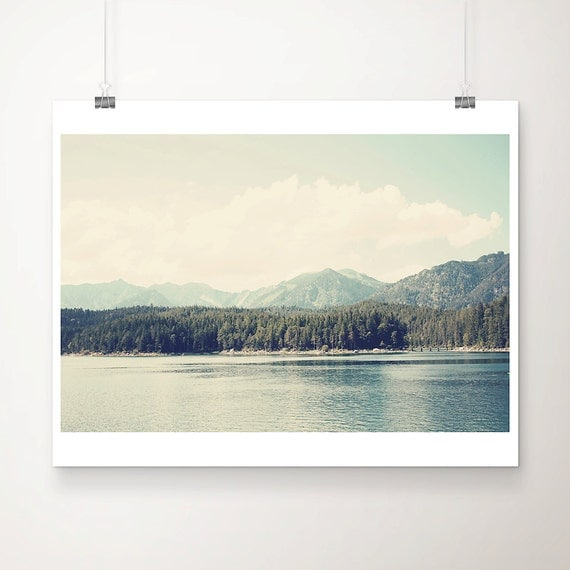 mountain photograph garmisch photograph lake photograph mint green decor landscape photograph germany photograph travel photography