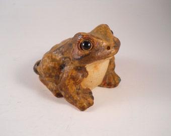 Brown Frog Vintage Hand Painted