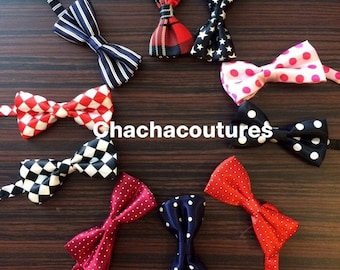 Ready to ship!  boys bow tie and suspender set suspenders photography prop, solid colors.
