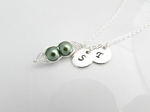 pea pod necklace bridesmaid necklace gifts uk seller