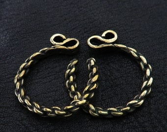 Bronze temple rings from medieval Poland (small size)