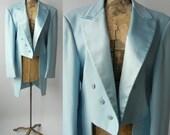 Vintage Tuxedo, Light Blue Tux, Light Blue Tuxedo, 1970s Tuxedo, 1970s Blue Tuxedo, 70s Wedding Tux, 70s Groom Tuxedo, Wedding Tuxedo