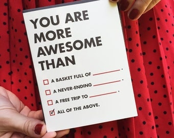 You Are More Awesome Than