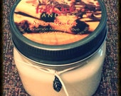 Cinnamon, Nutmeg, Clove Soy Candle - 8oz Jar - Natural Wick
