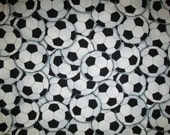 Soccer Balls Futbol Olympics World Cup Cotton Fabric Fat Quarter or Custom Listing