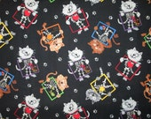 Cats X Ray Doctor Nurse Dentist Cotton Fabric Fat Quarter or Custom Listing
