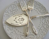Wedding Cake Server and Forks Set Vintage Wedding