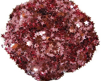 Pink Glitter Large Stars - 1 Fl. Ounce