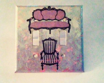 Purple Sofa and Chair Switch Plate