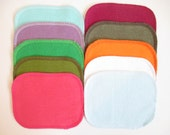 Reusable Cloth Wipes--Mini Size--Makeup Removal--Set of 10--Multicolored Mix--Ready to Ship