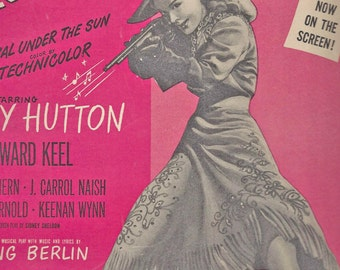 "Vintage Sheet Music ""Annie Get your Gun""  1946  Musical"