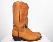 4.5 D Boys | 6 M Ladies | Custom Made Cowboy Boots in Burnt Orange
