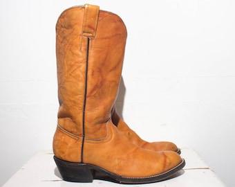 4.5 D Boys   6 M Ladies   Custom Made Cowboy Boots in Burnt Orange