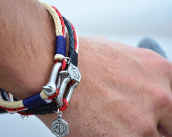 Men's Jewelry SALTI Nautical Bracelet '3rd Wave' FREE Worldwide Shipping Unisex (2 bracelets)