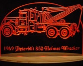 Wrecker Tow Towing Truck Acrylic Lighted Edge Lit LED  Sign Full Size USA Original