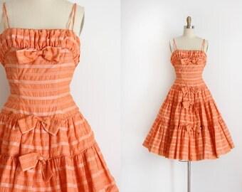 vintage 1950s dress // 50s prom dress