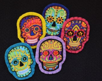 Halloween Day of the Dead pin