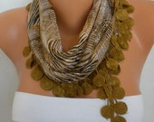 Olive Zebra Print Scarf Fall Accessories Cotton Scarf Shawl Cowl Scarf Gift Ideas Women Fashion Accessories best selling item scarf