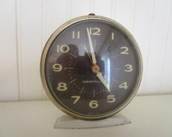 Vintage Westclox Keywound Alarm Clock   America II Model   Made in USA
