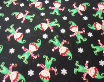 Santa's Elves Fabric Christmas By The Fat Quarter BTFQ New