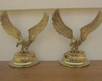 Presidential brass eagle bookends.