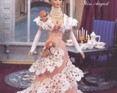 "The Bridal Trousseau Collection - Miss August - Annie's Attic Crochet Pattern Leaflet for 11 1/2"" Fashion Doll New Condition"