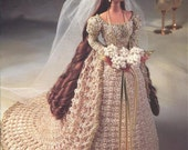 "The Bridal Belle Collection - Miss November - Annie's Attic Crochet Pattern Leaflet for 11 1/2"" Fashion Doll New Condition"