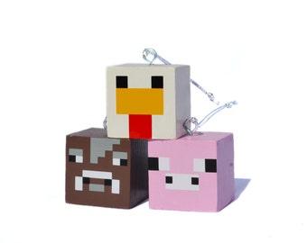 Personalized Block Ornaments - Set #2 (Animals)