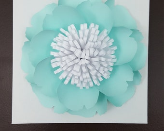 Large Paper Peony Canvas Wall Art Nursery Decor