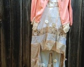 CUSTOM for Suzette balance rustic shabby ivory gauzey boho flower girl ensemble princess cardi leggings gypsy ecru dress