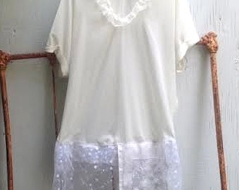 summer gypsy ivory fairy romantic ecru soft lace boho natural boho party shabby  tunic shirt blouse