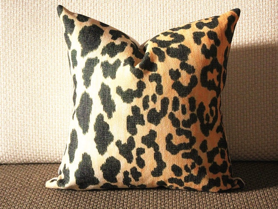 Leopard cotton and linen Pillow Cover Animal Print Throw