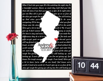 Wedding Song Lyrics Print First Dance Lyrics Art Any Location Any Song Wedding Gift Engagement Gift Wedding Lyrics First Dance Song