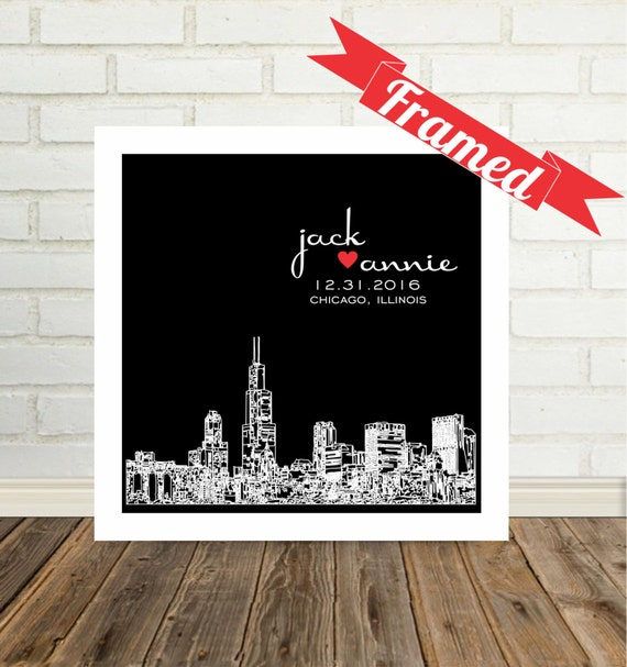 New Home Gift Housewarming Gift Personalized City Skyline Art FRAMED Print Any City Available House Warming Gift First Home Gift